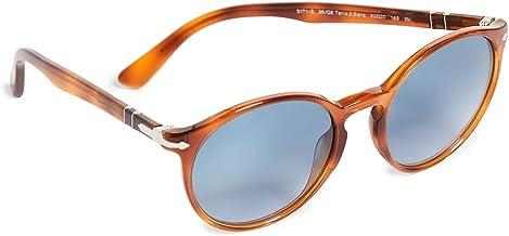 Persol Men`s Terra Di Siena Round Sunglasses