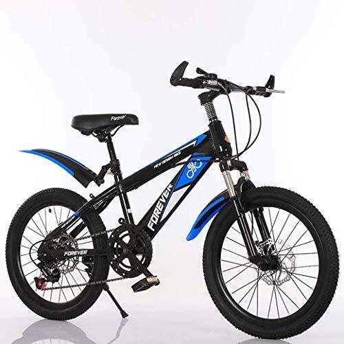 YANGHAO-Bicicleta de montaña para adultos- Bicicleta de montaña de velocidad variable de 20 pulgadas, silla cómoda, pedal antideslizante, bicicleta para niños, tenedor de suspensión, freno seguro y se