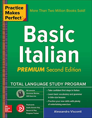 Practice Makes Perfect: Basic Italian, Premium Second Editio