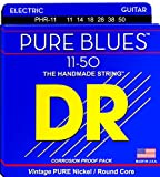 DR Strings Pure Blues Pure Nickel Wrap Round Core 11-50