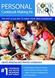 Personalized Cookbook Making Kit Including 5 Printed Cookbooks - Preserves Family Recipes for Future Generations - Quick, Convenient and Easy to Use