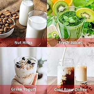 "Nut Milk Bag 2 Pcs, GOGOUP 12""X12"" Reusable Strainer Bags Food Straining Cloth 150&200 Micron Fine Mesh Nylon Filter Bags for Almond Milk, Juice, Cold Brew, Coffee, Tea, Yogurt, Cheese, Bone Broth |"