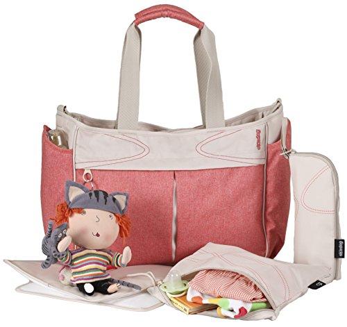 okiedog METRO 35002 leichte Wickeltasche mit Henkeln und Schultergurt inkl. Zubehör URBAN, coralle