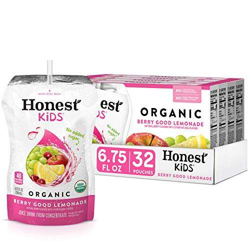 Honest Kids Berry Good Lemonade, Organic Fruit Juice Drink, 6.75 fl oz (32 Pack)