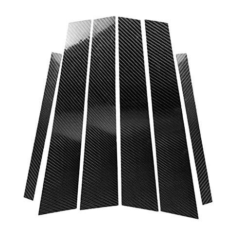 Homyl Couvercle Garniture Colonne de Voiture Fibre de Carbone - #2