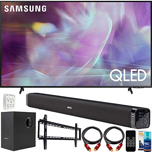 Samsung QN60Q60AA 60 Inch QLED 4K UHD Smart TV (2021) Bundle with Deco Gear Home Theater Soundbar with Subwoofer, Wall...