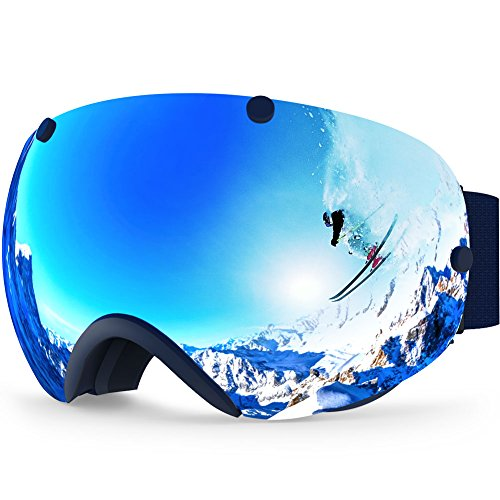 Zionor Snowboard Snow, Goggles Men, and Women, XA Ski, Anti-Fog, Spherical Dual, UV Protection, Lens Design