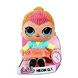 LOL Surprise Muñeca Suave de Peluche - Juguete de Peluche Abrazable con Atuendo Intercambiable - Coleccionable - Neon QT