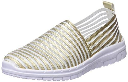 XTI 48059, Zapatillas sin Cordones para Mujer, Dorado (Gold), 41 EU