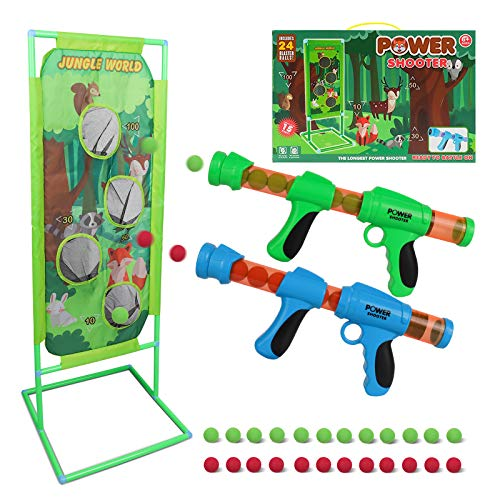 DeXop Shooting Game Toy for Kids 5 6 7 8 9 10+ Years Olds Boys and Girls Foam Balls Toy Gun Air...