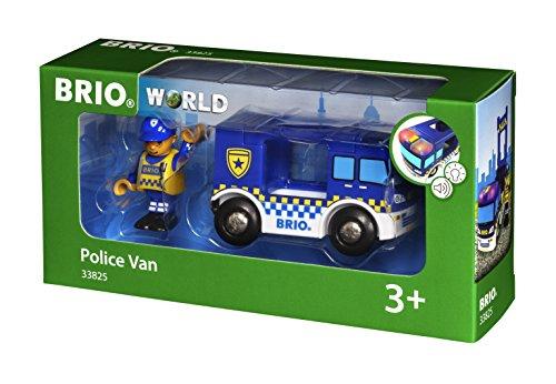 BRIO Bahn 33825 - Polizeiwagen mit Licht und Sound