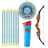 Bulokeliner Juego de flecha y arco, juego de tiro deportivo para niños, con 10 flechas de ventosa, 1 arco y 1 diana