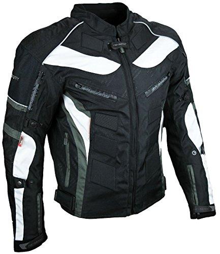 Heyberry Textil Motorrad Jacke Motorradjacke Schwarz Grau Gr. XL - 3