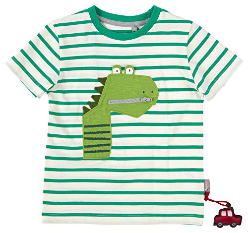 SIGIKID Mini - Jungen T-Shirt Kurzarm aus Bio-Baumwolle, abnehmbares Hangtoy, Größe 098 - 128