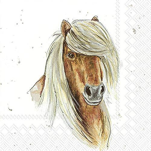 IHR 20 Servietten Motiv: Farmfriend Horse - Pferd Pony Haflinger 33x33cm