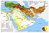 Puzzle de 300 pièces, Carte du Puzzle de Plancher du Moyen-Orient pour Enfants Adulte 52x38cm
