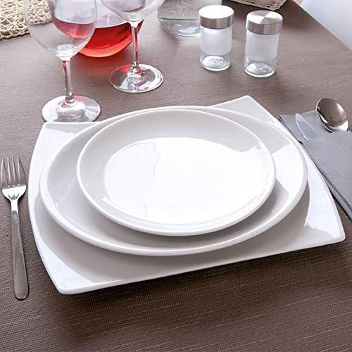 Petite assiette porcelaine blanche - D 17 cm - Siviglia