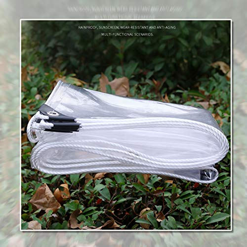Lona MYAN Impermeable, Toldo Transparente 0,35mm De Espesor PVC Cubrir con Ojales A Prueba De Polvo Impermeable para Plantas Invernadero (Color : Clear, Size : 1.8x6m/5.9x19.7ft)