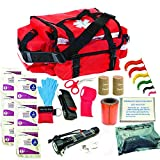 Best Emt Kits - Deluxe Stocked Large EMT Trauma Bag First Aid Review