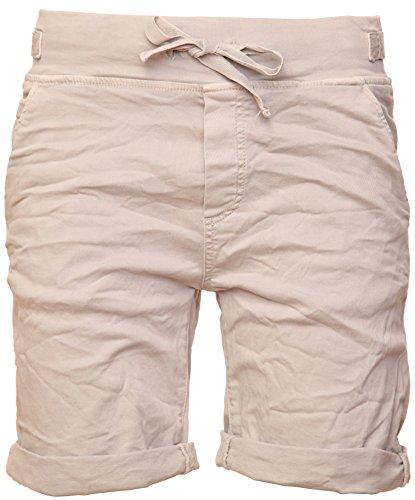 Basic.de Cotton-Stretch Bermuda-Shorts Beige S