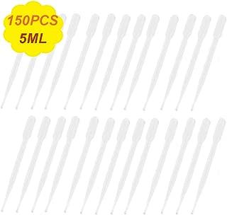 150PCS 5ml Disposable Plastic Transfer Pipettes,Graduated Liquid Pipette for Art Project,Essential Oils