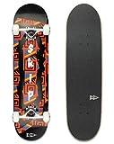 Skip Skateboard Pattern Komplettboard 7-Ply Ahornholzkonstruktion...