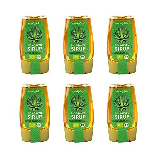 Mundo Feliz - Sirope de agave ecológico, 180ml (paquete de6)