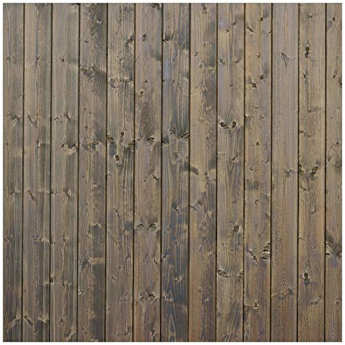 Wallario Möbeldesign/Aufkleber, geeignet für IKEA Lack Tisch - Holzpaneelen in grau braun - Holzmuster mit Maserung in 55 x 55 cm