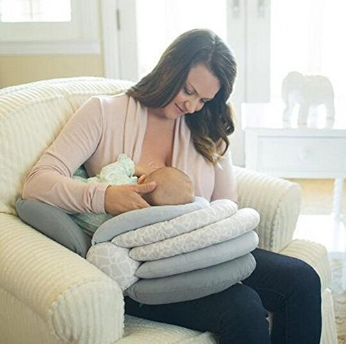 Almohadas para lactancia materna, altura ajustable,...