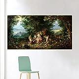 Ajwkob Kit de Pintura al óleo de Bricolaje por número, póster de Cristo, Pintura, Pintura, Paisaje de la Ciudad, Dibujo con decoración navideña, decoración, Regalos, 30X60CM,
