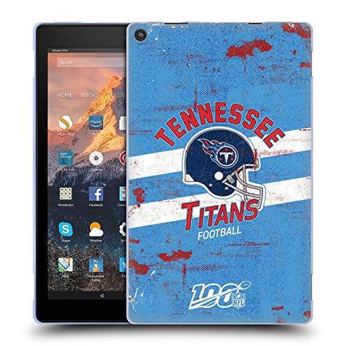 Head Case Designs Oficial NFL Casco Distressed Look 100th 2019/20 Titanes de Tennessee Carcasa de Gel de Silicona Compatible con Amazon Fire HD 10 (2017)