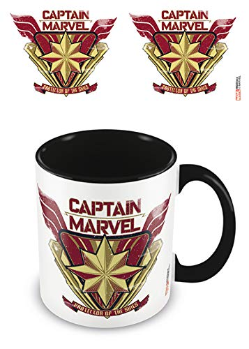 Captain Marvel MGC25427 beker van keramiek, 315 ml, zwart