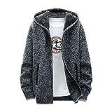Sudadera para hombre con capucha, chaqueta de invierno, chaqueta de otoño, chaqueta de aviador, cuello alto, chaqueta bomber, chaqueta de algodón, chaqueta de campo, chaqueta cargo, gris, XXXL