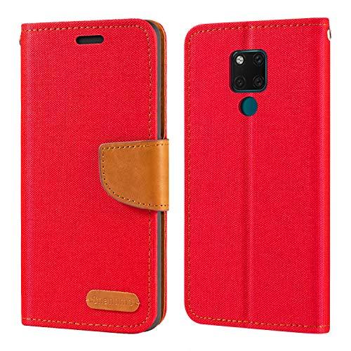 Huawei Mate 20 X Hülle, Oxford Leder Wallet Hülle mit Soft TPU Back Cover Magnet Flip Hülle für Huawei Mate 20 X 5G