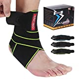 SNEINO Ankle Brace for Women & Men - Breathable Comfortable Adjustable Ankle Wrap,Ankle Support for Running, Basketball, Achilles, Minor Sprains, Joint Pain Relief, Injury Recovery, One Size Fits All