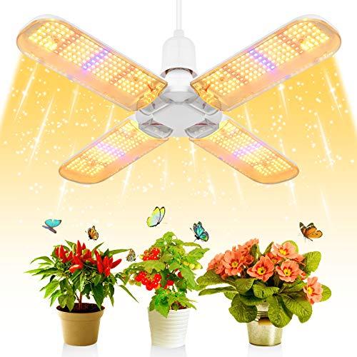 SINJIAlight 552 Pcs LEDs Pflanzenlampe,E27 200W Vollspektrum Pflanzenlicht Grow Lampe Glückskleeblatt 180° Einstellbar,für Garten Zimmerpflanzen [Energieklasse A++] (200w)