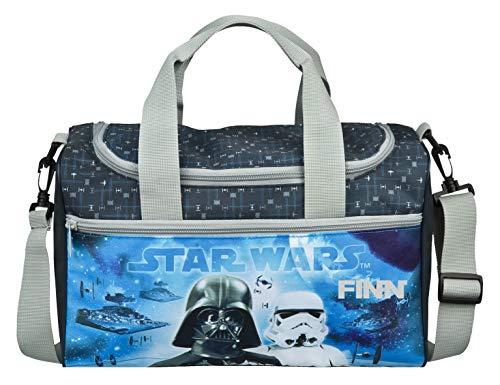 Sporttasche mit Namen   Motiv Starwars Trooper in grau & blau   inkl. Namensdruck   kleine Kindertasche für Jungen personalisiert