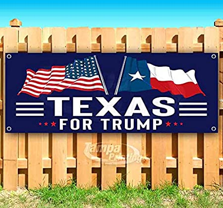 Texas for Trump 13 oz Banner Heavy-Duty Vinyl Single-Sided with Metal Grommets