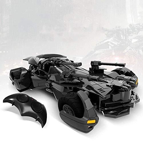QTRT 01:18 Batman Coche teledirigido de Deriva USB Trucos de Carreras de Coches de Carga de cumpleaños Juguetes cañón con Ametralladora for los Muchachos Muchachas de los Cabritos de
