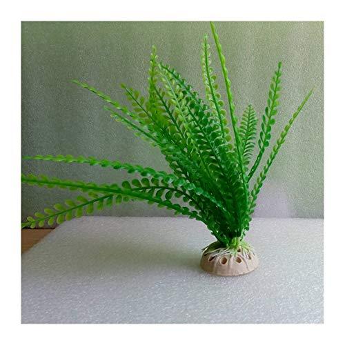 Without 20cm Unterwasser Künstliche Wasserpflanze Ornaments Aquarium Grün Wasser Gras Farn-Dekor-Landschaft Dekoration (Color : Green)