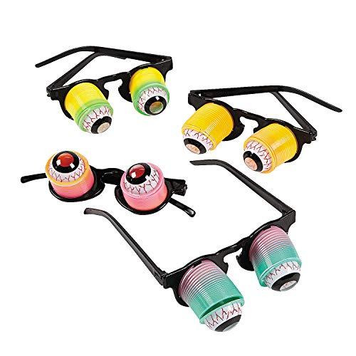 Hanging Rainbow Goo-Goo Glasses (1 dz)assorted colors