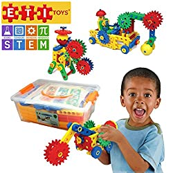 Educational engineering construction blocks and gears building set.