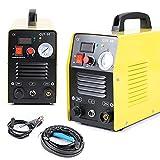 Cortador de plasma portátil de 50 amperios, 5,5 kva 12 mm, kit de cortadora de plasma prémium y robusto, pantalla digital en el disco frontal, ligero y portátil