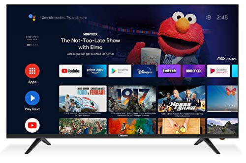 Caixun EC55S1A, 55 pulgadas Android 9.0 Smart TV, 140cm 4K TV (Prime Video, Netflix, Youtube, Google Assistant, Google Play Store) HDR, Triple Tuner, Blueteeth [Clase energética A +]