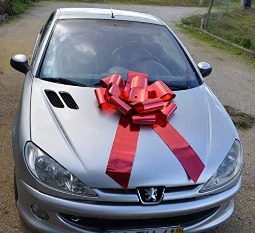 Riesige rote Schleife 65x105cm Rosette, Auto, Weihnachten, kein Basteln!