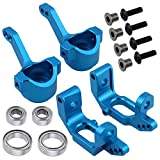 steering knuckle tornado epx - Hobbypark Aluminum Front C-hub Caster Blocks & Steering Knuckle for Volcano Epx /Pro RC 1/10 Monster Truck,Replacement of 102210 10221 (Blue)