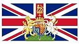 Michael & Rene Pflüger Barmstedt Aufkleber Fahne von Grossbritannien Union Jack mit Wappen Sticker Autoaufkleber