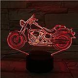 Luz de noche 3D motocicleta iluminación 3D luz LED interfaz USB luz de noche...
