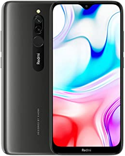 "Xiaomi Redmi 8 Teléfono 4GB RAM + 64GB ROM Pantalla de caída de Puntos de 6.22 "" procesador Snapdragon 439 Octa-Core cámara Frontal Dual de 8MP y cámara Trasera Dual AI de 12MP + 2MP (Negro)"