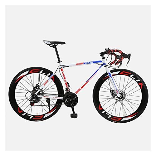 Bicicleta de Carretera Equipo Fijo Bicicleta Hombres y Mujeres Velocidad Bender Bender Racing Disc Freno Bicicleta 26 Pulgadas 60 Cuchillo Adulto Estudiante Racing